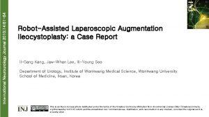 International Neurourology Journal 2010 14 61 64 RobotAssisted