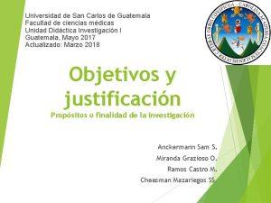 Universidad de San Carlos de Guatemala Facultad de