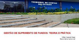 GESTO DE SUPRIMENTO DE FUNDOS TEORIA E PRTICA