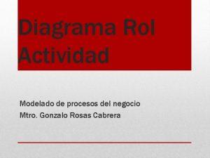 Diagrama Rol Actividad Modelado de procesos del negocio