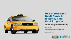 Use of Discount Debit Cards in Intercity Taxi
