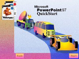 Microsoft Power Point 97 Quick Start Ende Start