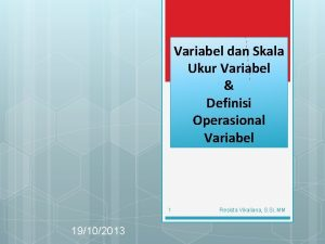 Variabel dan Skala Ukur Variabel Definisi Operasional Variabel