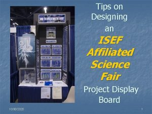 Tips on Designing an ISEF Affiliated Science Fair