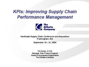 KPIs Improving Supply Chain Performance Management Northeast Supply