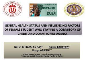 GENITAL HEALTH STATUS AND INFLUENCING FACTORS OF FEMALE