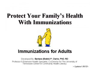 Protect Your Familys Health With Immunizations for Adults