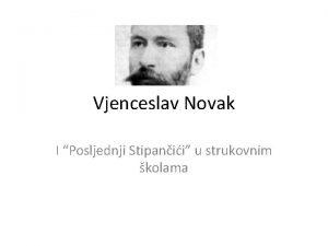Vjenceslav Novak I Posljednji Stipanii u strukovnim kolama