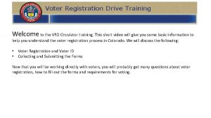 Welcome to the VRD Circulator training This short