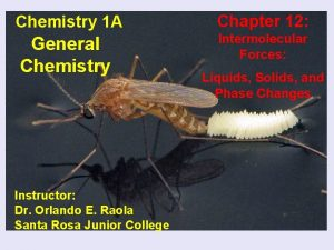 Chemistry 1 A Chapter 12 General Chemistry Intermolecular