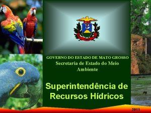 GOVERNO DO ESTADO DE MATO GROSSO Secretaria de