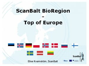 Scan Balt Bio Region Top of Europe Elise