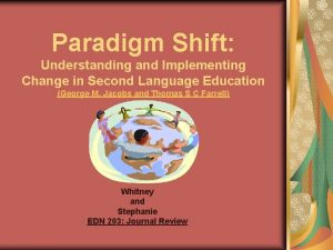 Paradigm Shift Understanding and Implementing Change in Second