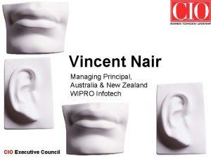 Vincent Nair Managing Principal Australia New Zealand WIPRO