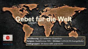 Gebet fr die Welt Japan Bevlkerung 127 Millionen