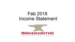 Feb 2018 Income Statement Income Feb 2018 41010