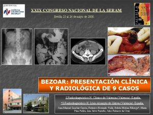 XXIX CONGRESO NACIONAL DE LA SERAM Sevilla 23