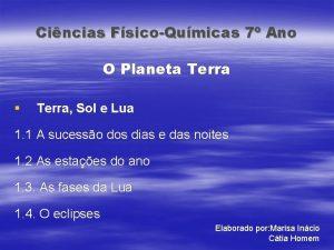 Cincias FsicoQumicas 7 Ano O Planeta Terra Terra