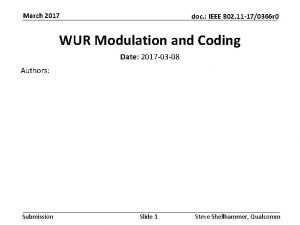 March 2017 doc IEEE 802 11 170366 r