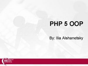 PHP 5 OOP By Ilia Alshanetsky New Functionality