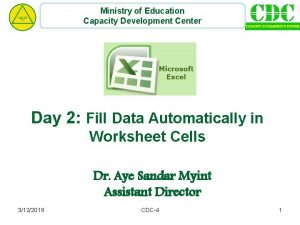 Ministry of Education Capacity Development Center Day 2