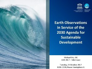 Earth Observations in Service of the 2030 Agenda
