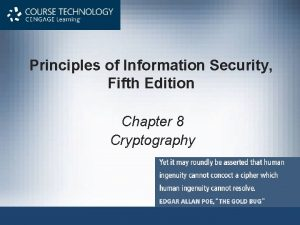 Principles of Information Security Fifth Edition Chapter 8