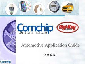 Automotive Application Guide 10 29 2014 Automotive Application