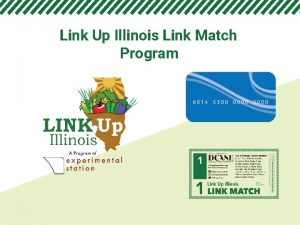 Link Up Illinois Link Match Program Link Up