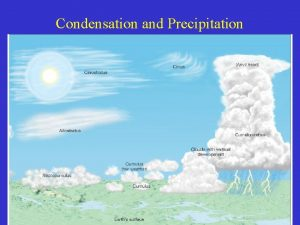 Condensation and Precipitation Growth of Cloud Drops Atmospheric