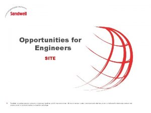 Opportunities for Engineers SITE Sandwell a leading engineer