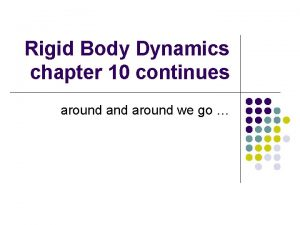 Rigid Body Dynamics chapter 10 continues around we