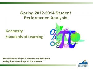 Spring 2012 2014 Student Performance Analysis Geometry Standards