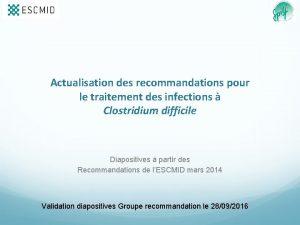 Actualisation des recommandations pour le traitement des infections