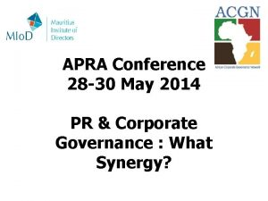 APRA Conference 28 30 May 2014 PR Corporate