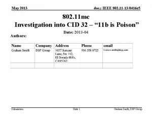May 2013 doc IEEE 802 11 130416 r