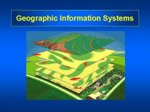 Geographic Information Systems What is a Geographic Information