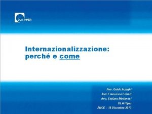 Internazionalizzazione perch e come Avv Guido Inzaghi Avv