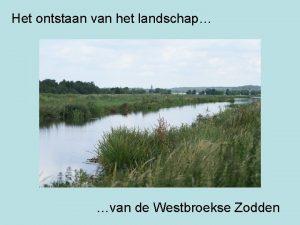 Het ontstaan van het landschap van de Westbroekse