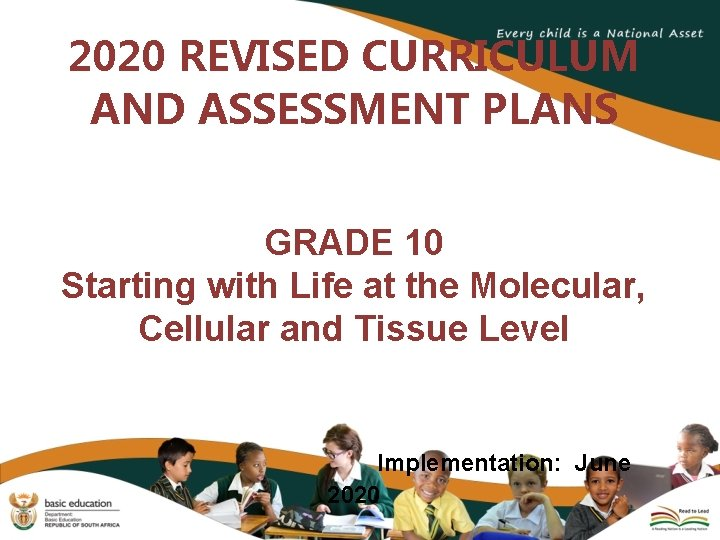 2020 REVISED CURRICULUM AND ASSESSMENT PLANS GRADE 10