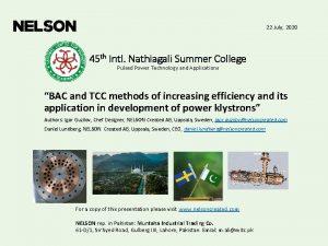 22 July 2020 45 th Intl Nathiagali Summer