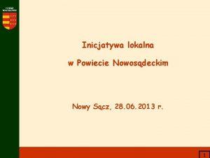 Inicjatywa lokalna w Powiecie Nowosdeckim Nowy Scz 28