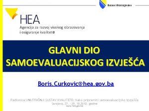 Bosna i Hercegovina Agencija za razvoj visokog obrazovanja