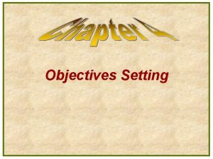 Objectives Setting Major Decisions in Advertising Advertising Objectives