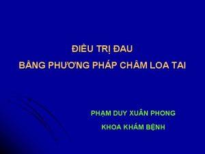IU TR AU BNG PHNG PHP CH M