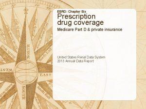 ESRD Chapter Six Prescription drug coverage Medicare Part