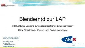 Blendend zur LAP Mit BLENDED Learning zum auerordentlichen