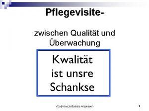 Pflegevisitezwischen Qualitt und berwachung VDAB Geschftsstelle Wiesbaden 1