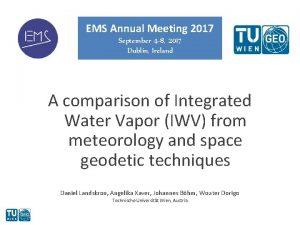 EMS Annual Meeting 2017 September 4 8 2017