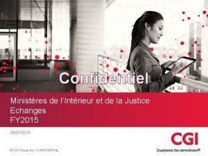 Confidentiel Ministres de lIntrieur et de la Justice